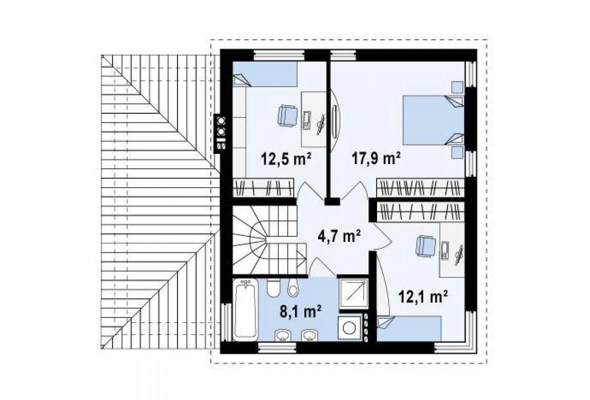 План N2 проекта дома из блоков АСД-Линда