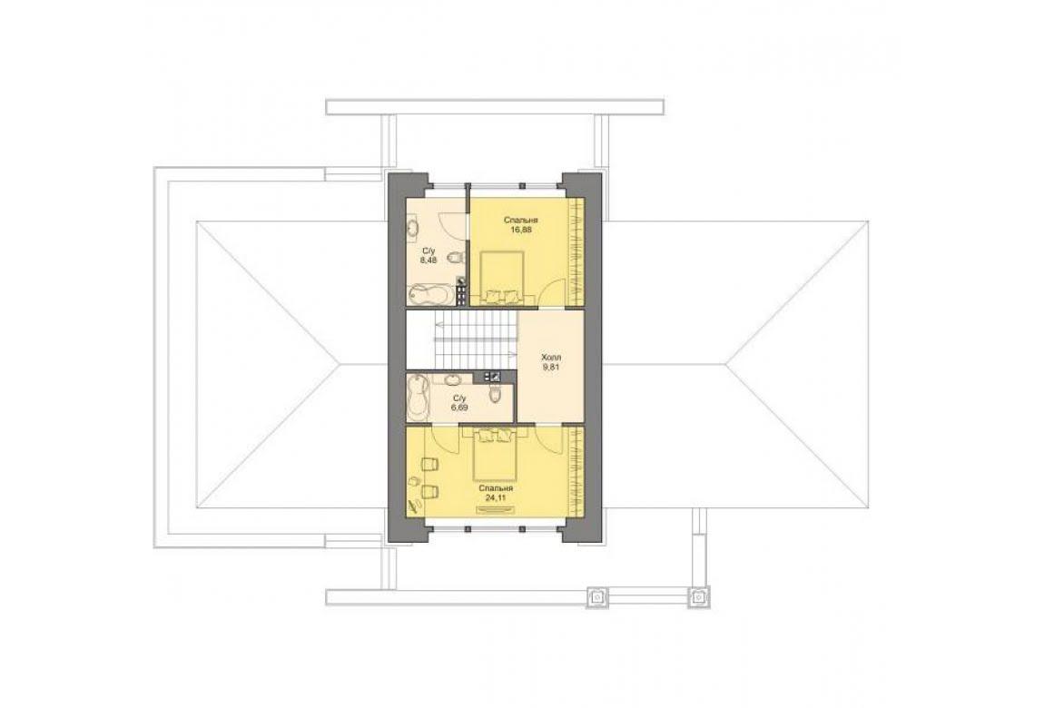 План N2 проекта кирпичного дома АСД-1458