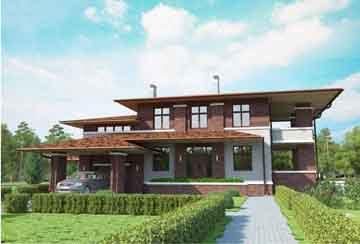 Проект кирпичного дома АСД-Палермо