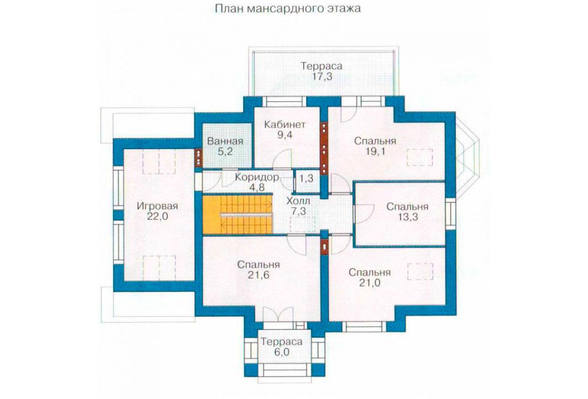 План N1 проекта кирпичного дома АСД-1046