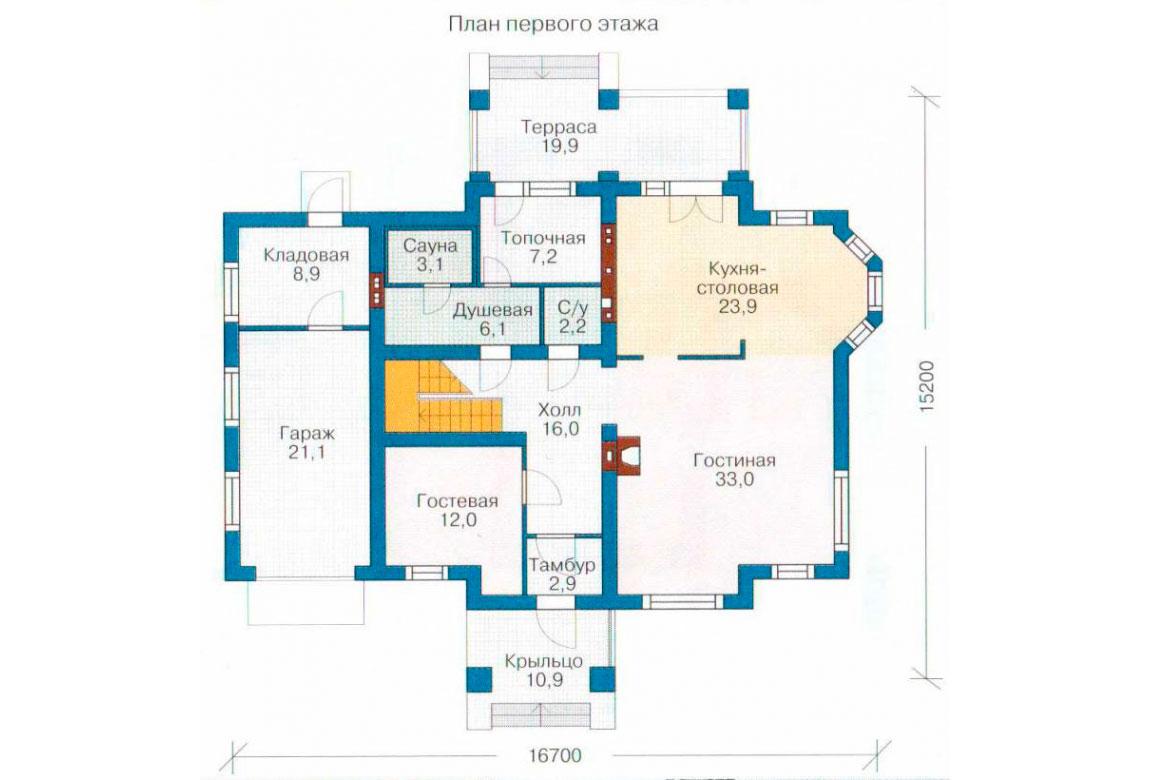 План N2 проекта кирпичного дома АСД-1046