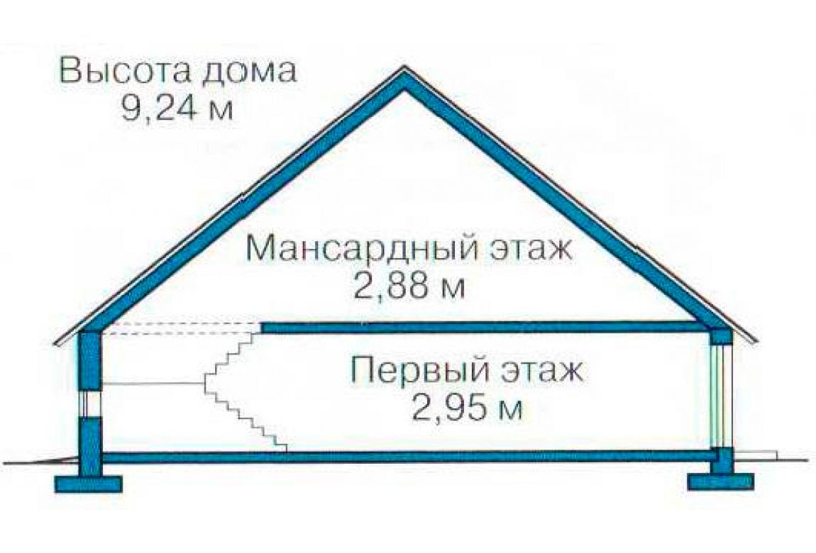 План N3 проекта кирпичного дома АСД-1046