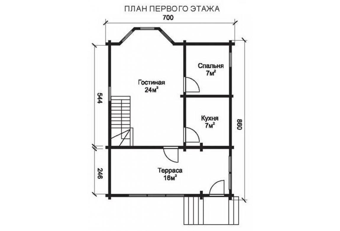 План N1 проекта недорогого дома АСД-1462