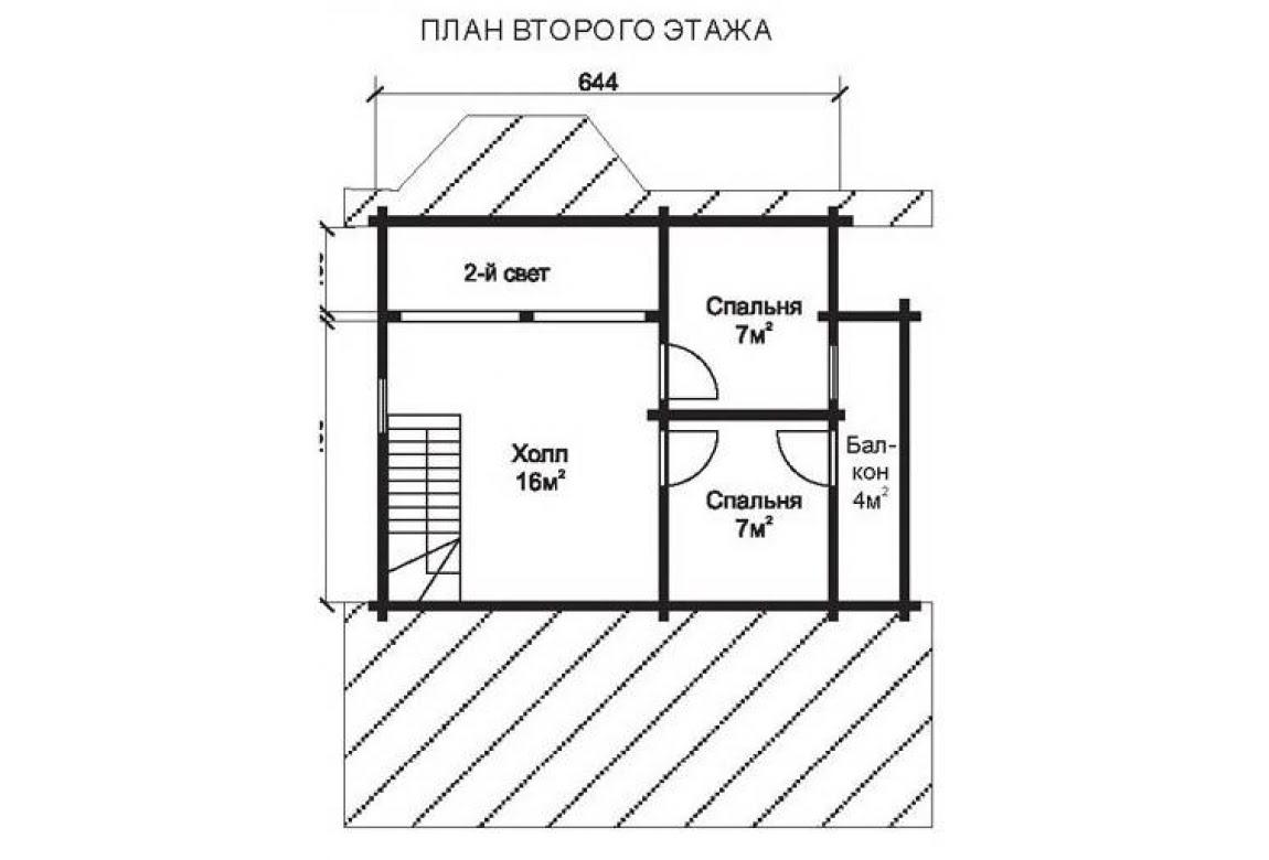 План N2 проекта недорогого дома АСД-1462