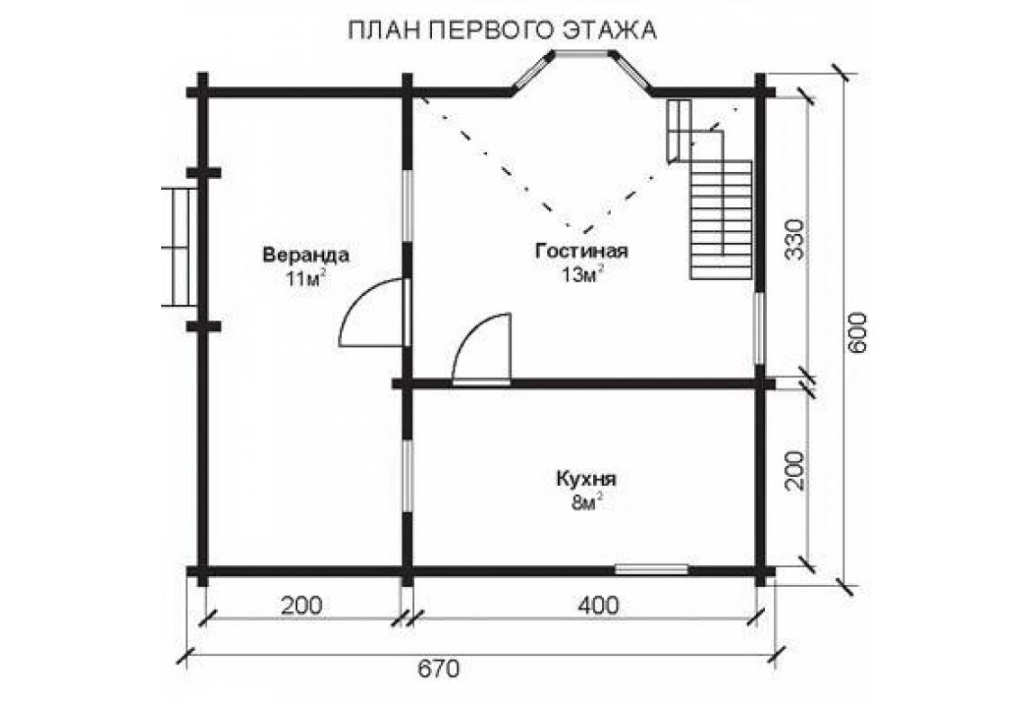План N1 проекта недорогого дома АСД-1463
