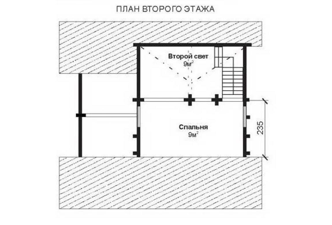 План N2 проекта недорогого дома АСД-1463