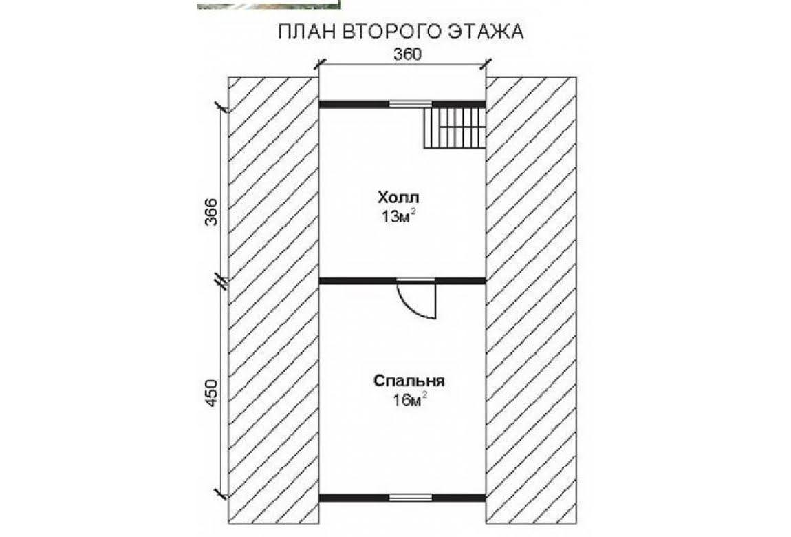 План N2 проекта недорогого дома АСД-1464