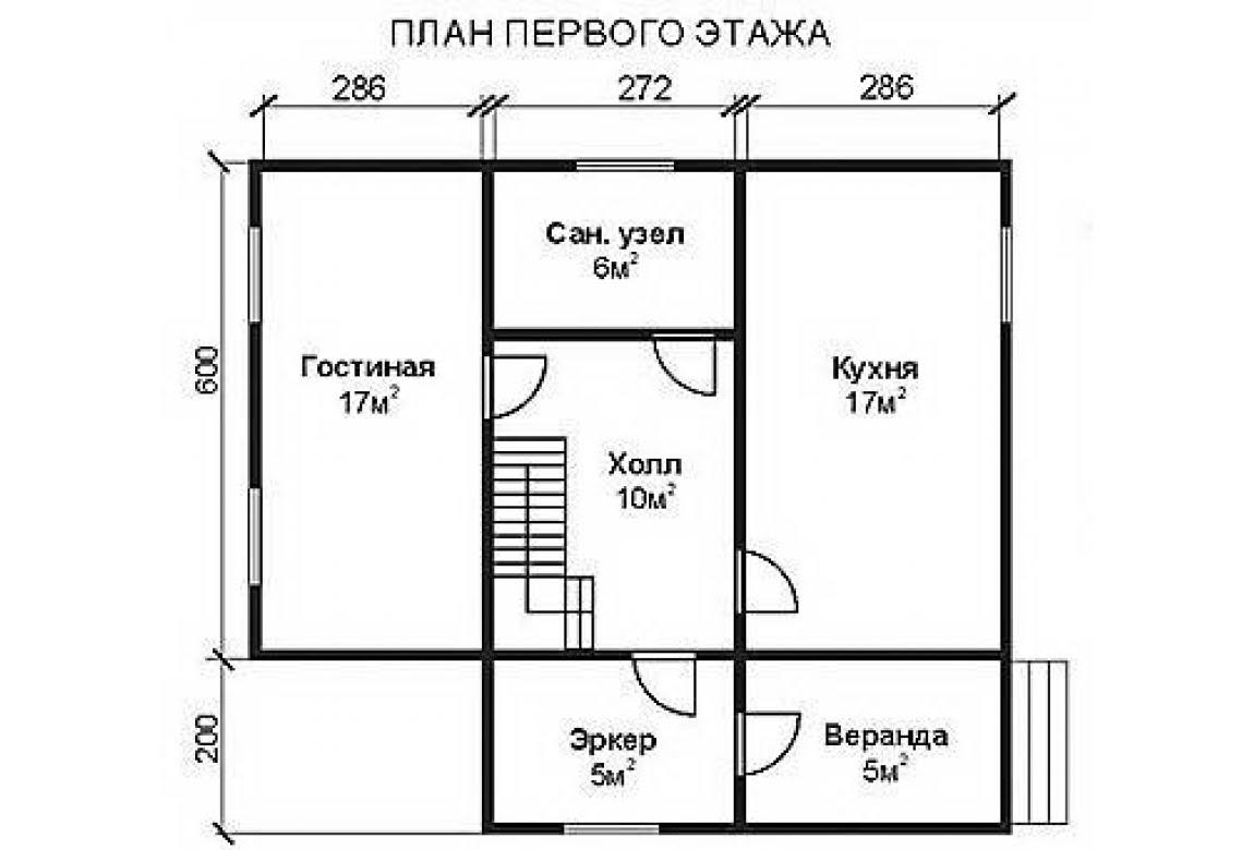 План N1 проекта недорогого дома АСД-1465