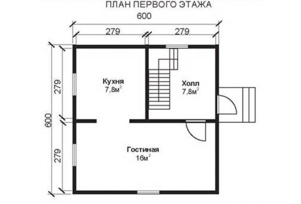 План N1 проекта недорогого дома АСД-1467