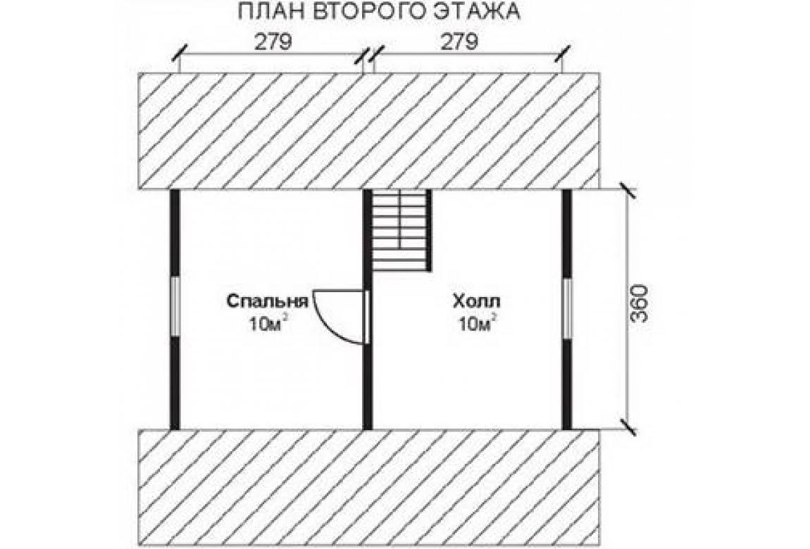 План N2 проекта недорогого дома АСД-1467