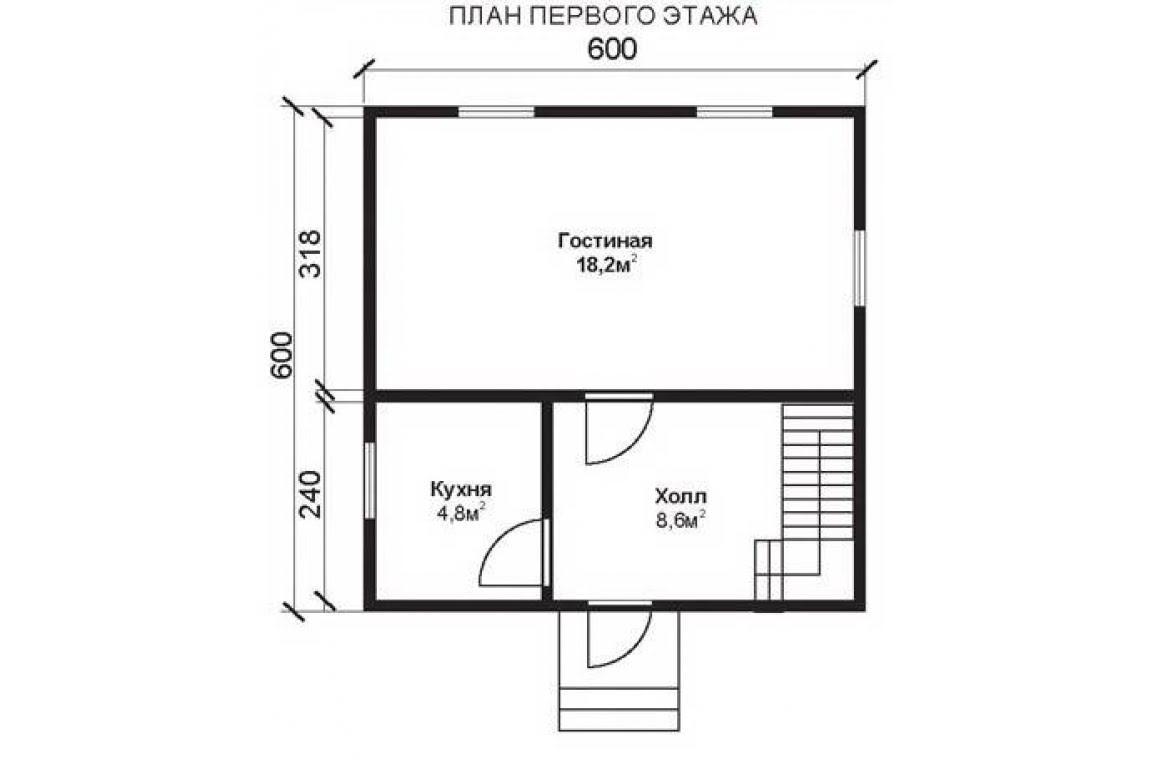 План N1 проекта недорогого дома АСД-1468