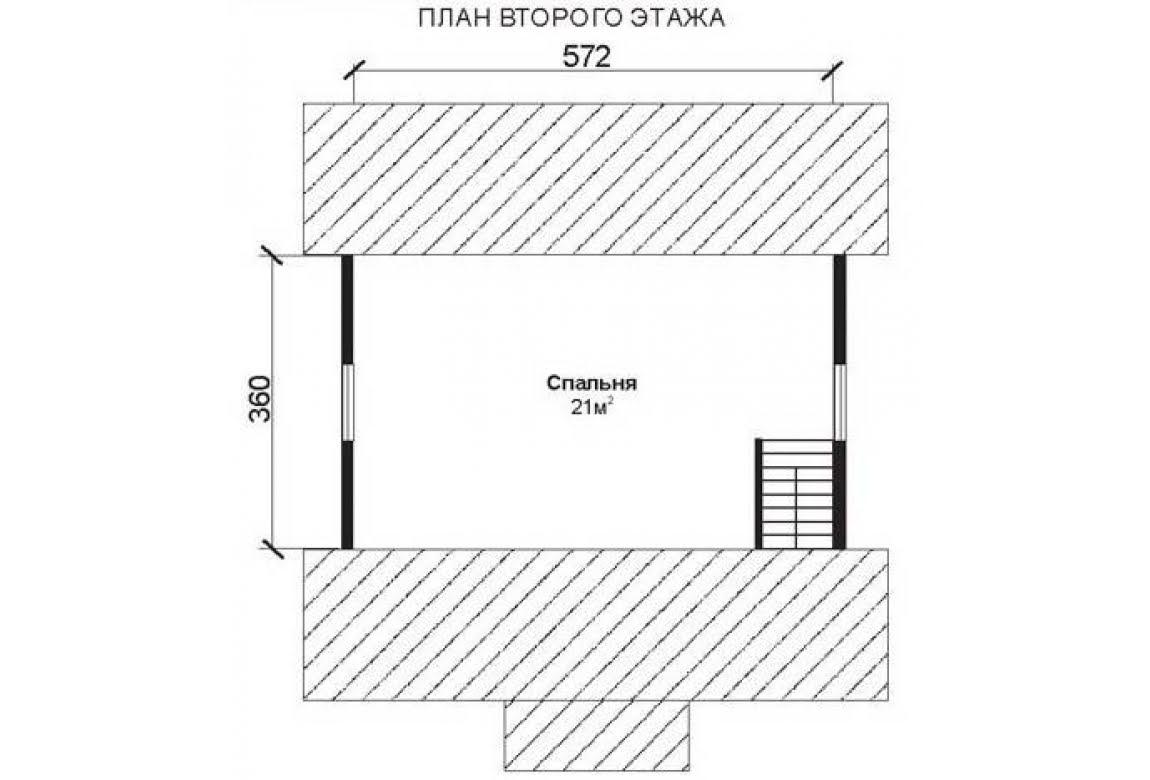 План N2 проекта недорогого дома АСД-1468