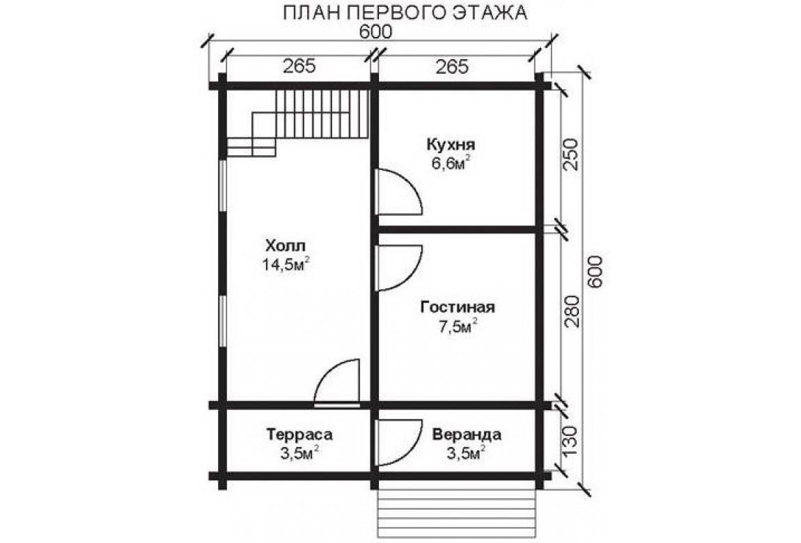 План N1 проекта недорогого дома АСД-1469