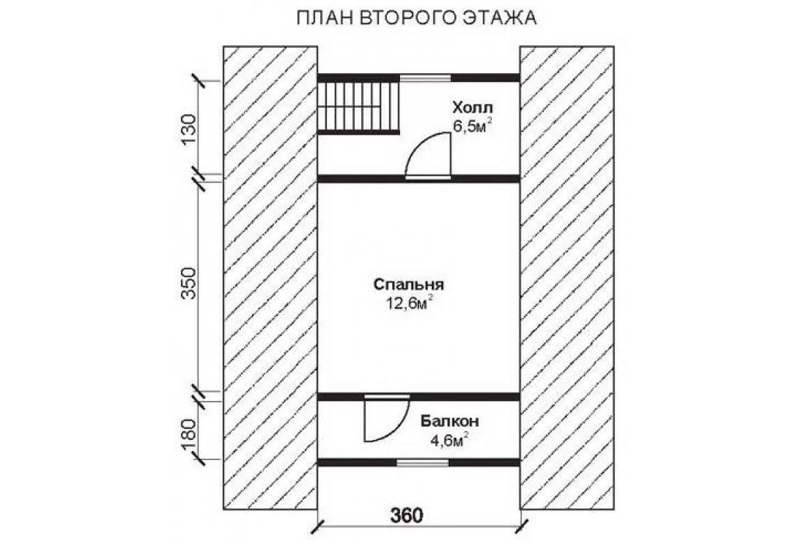 План N2 проекта недорогого дома АСД-1469
