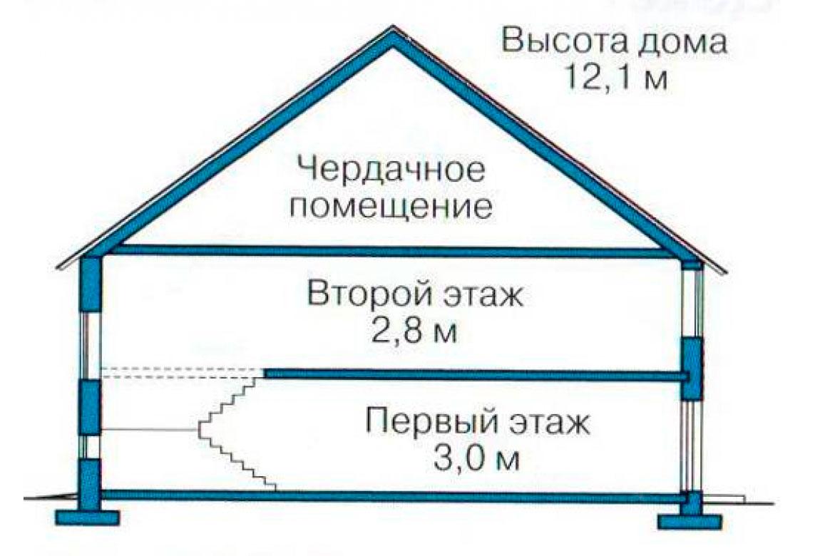 План N3 проекта кирпичного дома АСД-1047