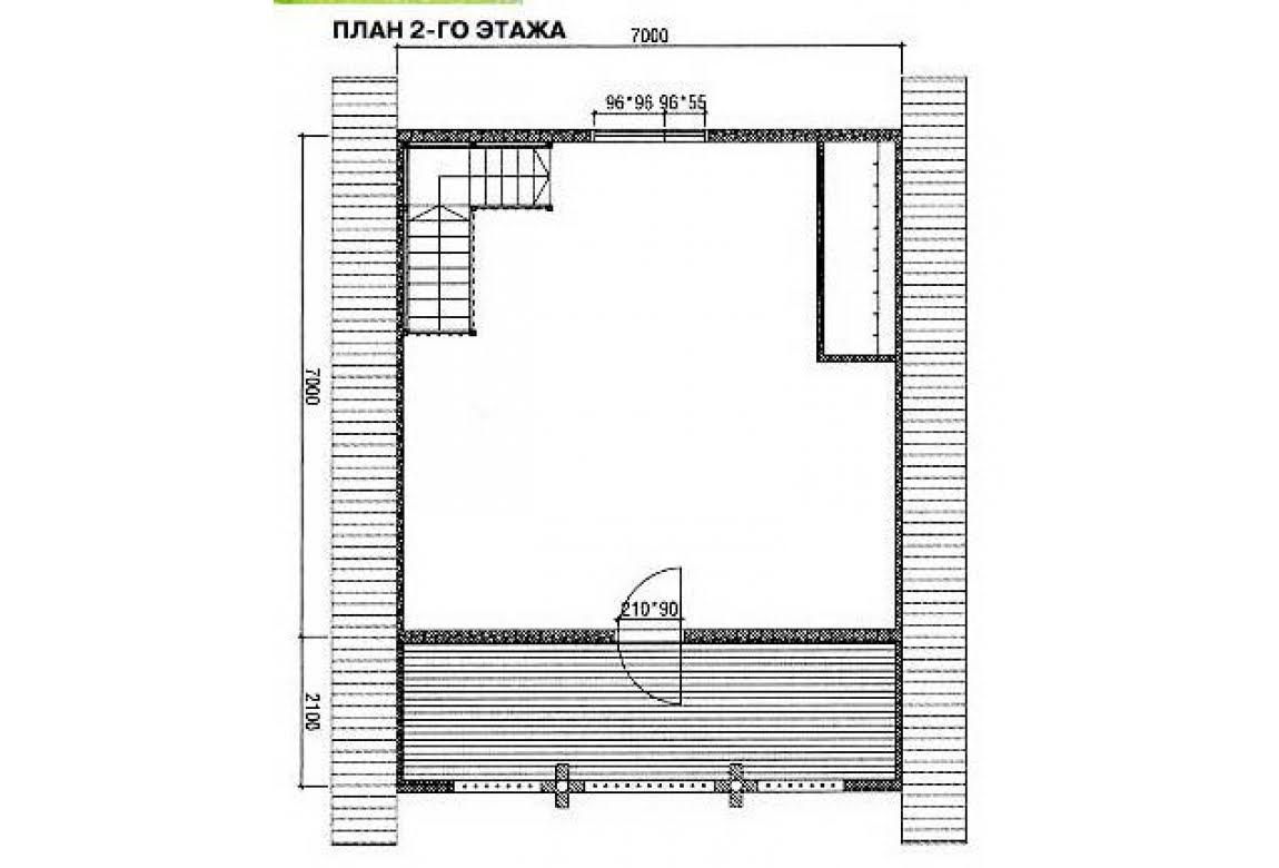 План N2 проекта дома из бревна АСД-1471