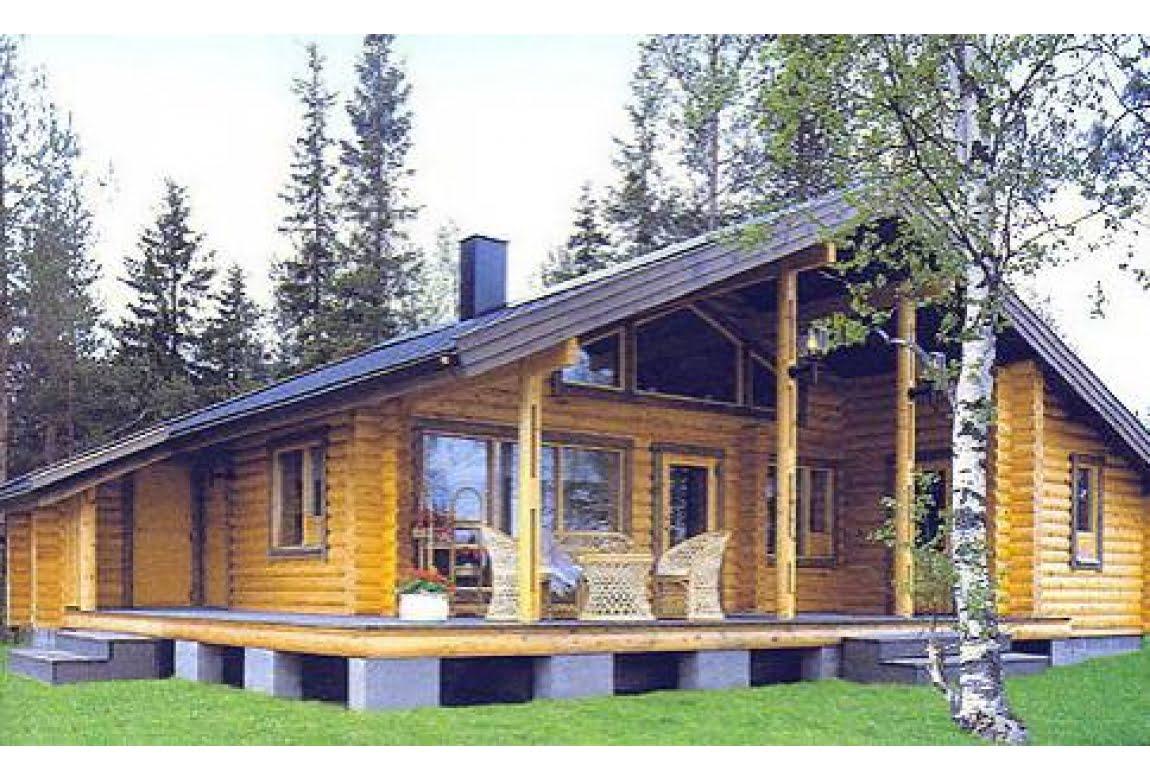 Дом из оцилиндрованного бревна DD2-634