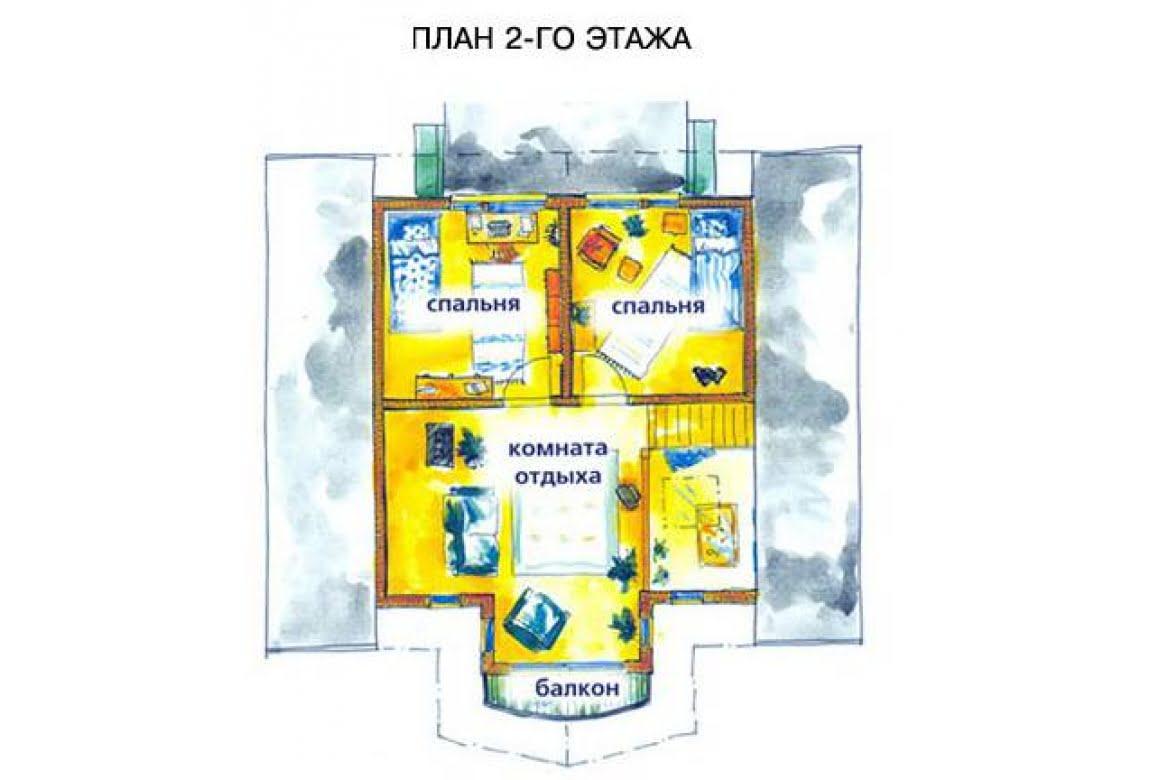 План N2 проекта дома из клееного бруса АСД-1474