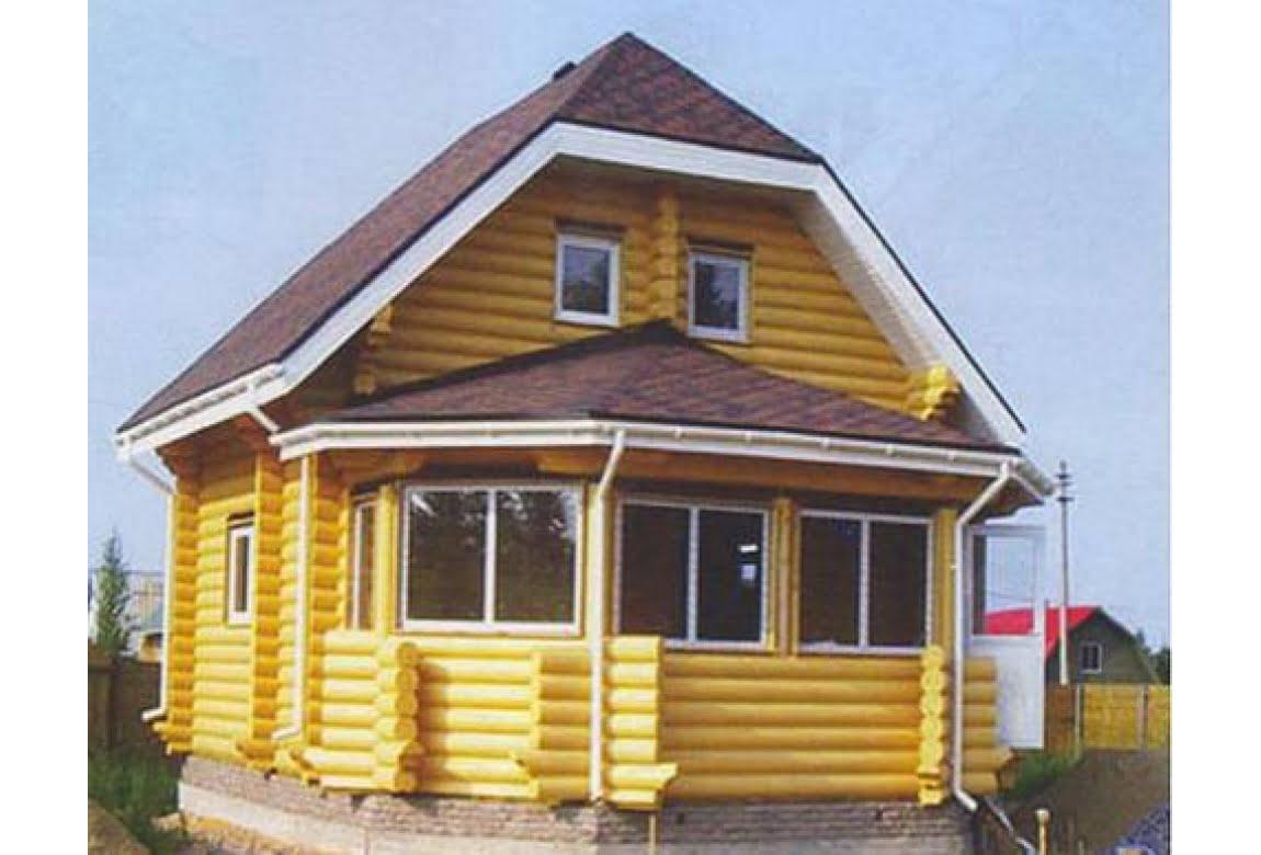 Дом из оцилиндрованного бревна DD3-113