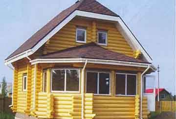 Дом из бревна АСД-1478