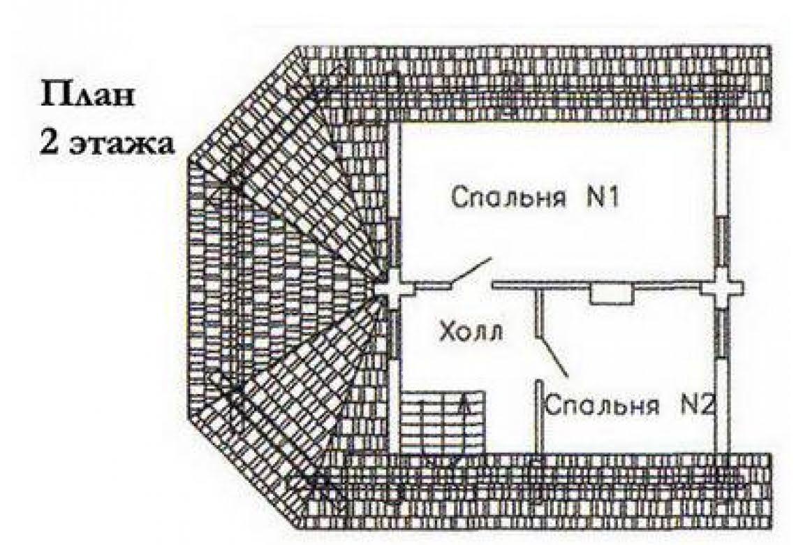 План N2 проекта дома из бревна АСД-1478