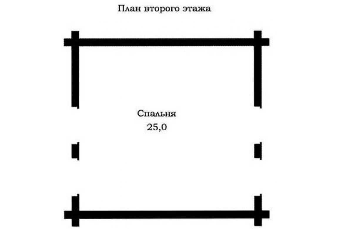 План N2 проекта дома из бревна АСД-1479