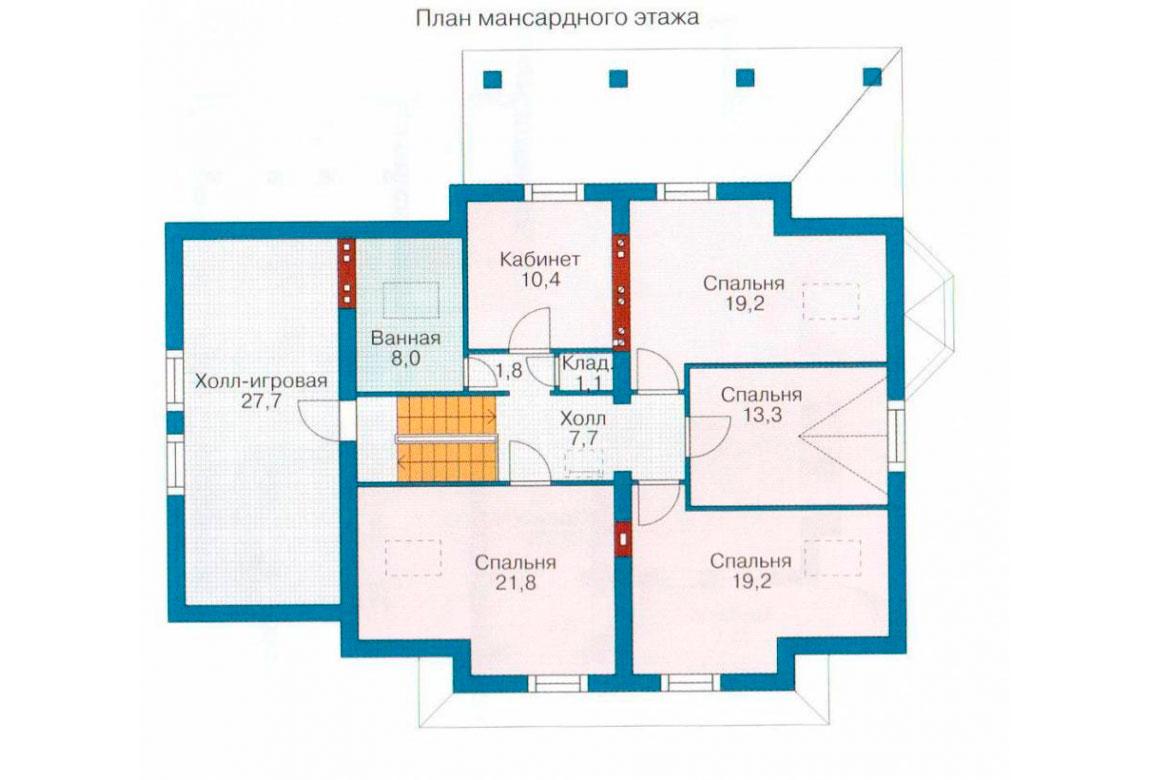 План N2 проекта кирпичного дома АСД-1048