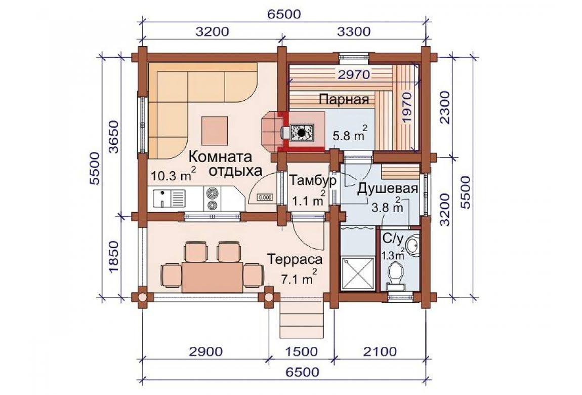 План N1 проекта бани АСД-1482