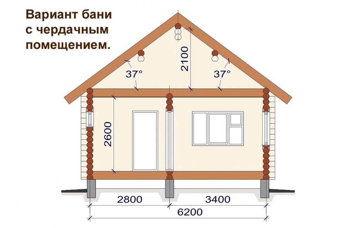 План N2 проекта бани АСД-1495