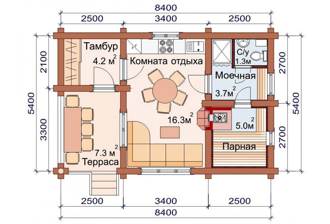 План N1 проекта бани АСД-1497