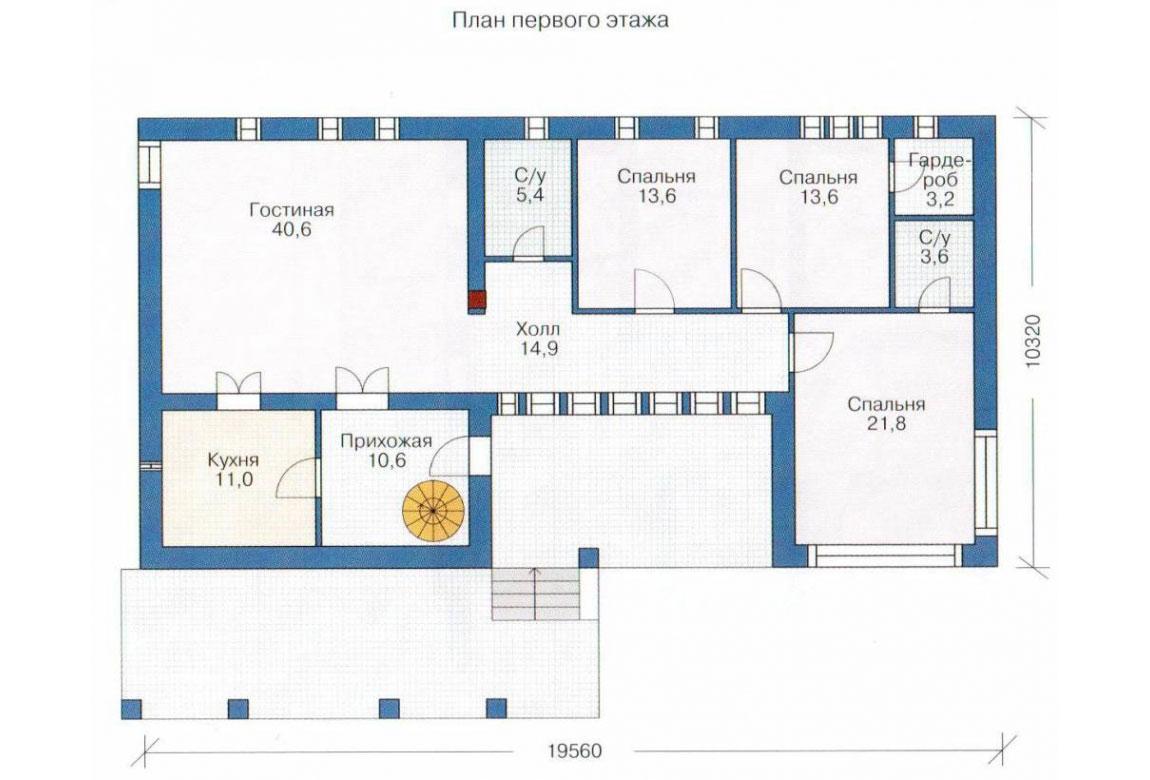 План N1 проекта кирпичного дома АСД-1005