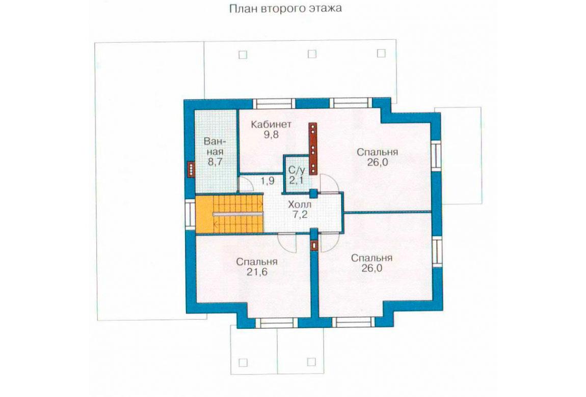 План N1 проекта кирпичного дома АСД-1050