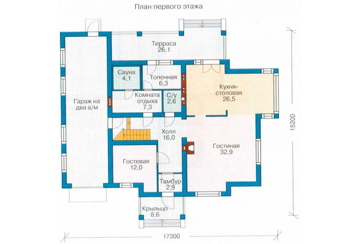 План N2 проекта кирпичного дома АСД-1050