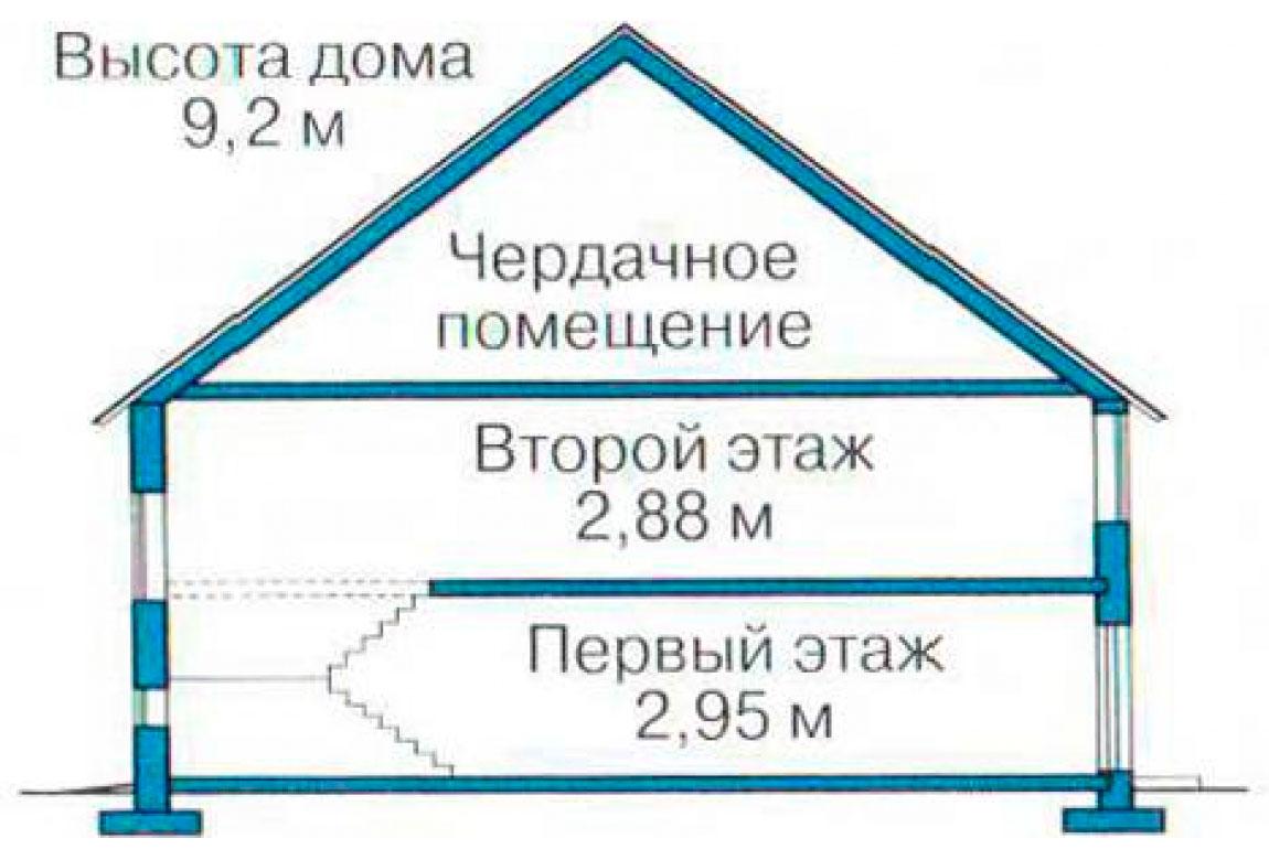 План N3 проекта кирпичного дома АСД-1050