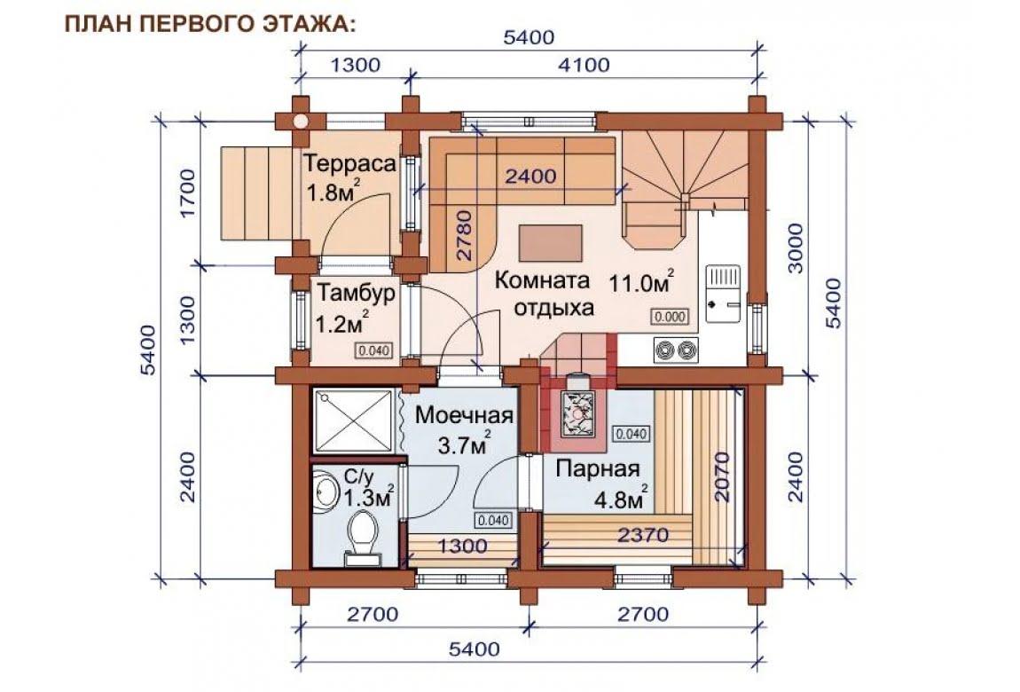 План N1 проекта бани АСД-1501