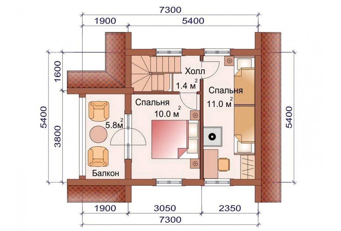 План N2 проекта бани АСД-1502