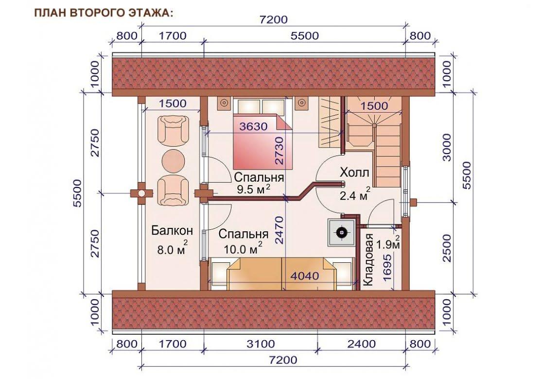 План N2 проекта бани АСД-1504
