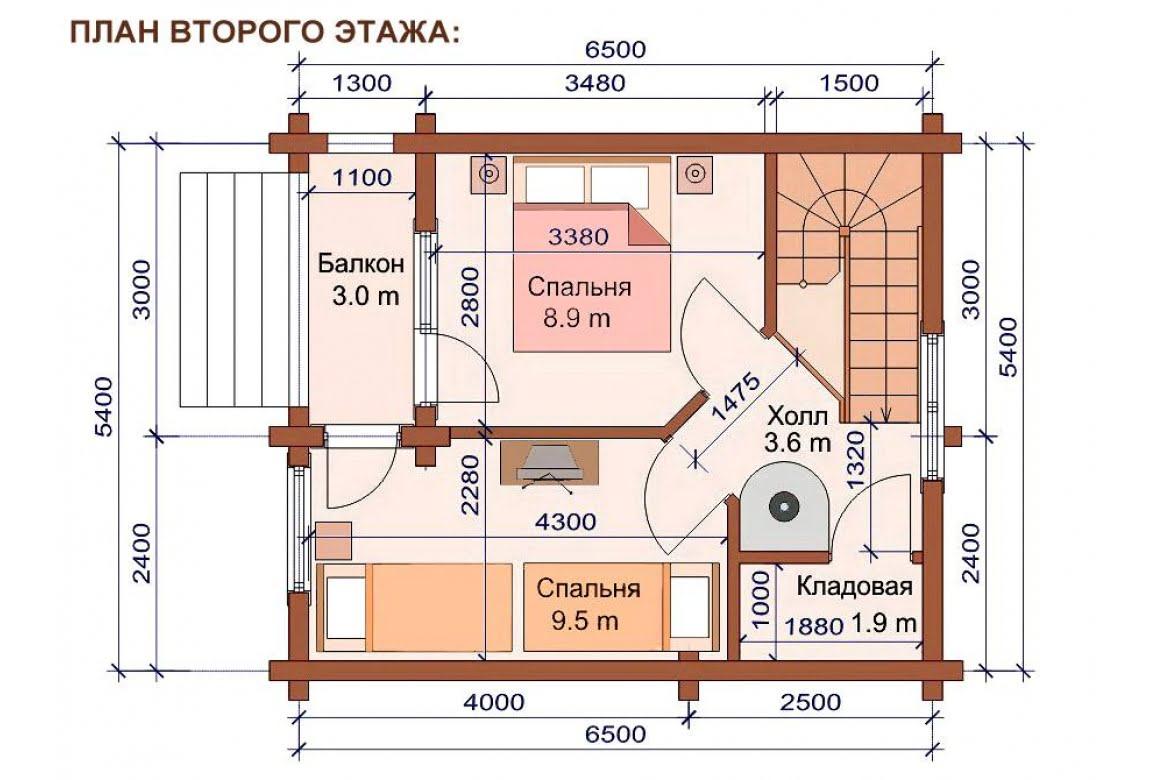 План N2 проекта бани АСД-1505
