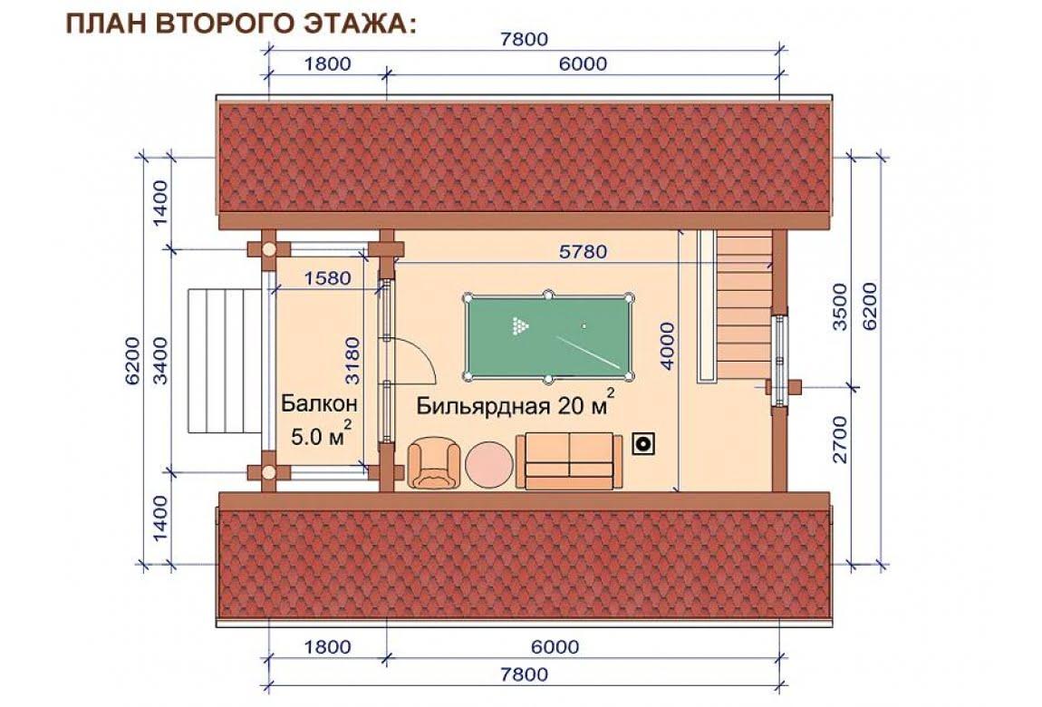 План N2 проекта бани АСД-1506