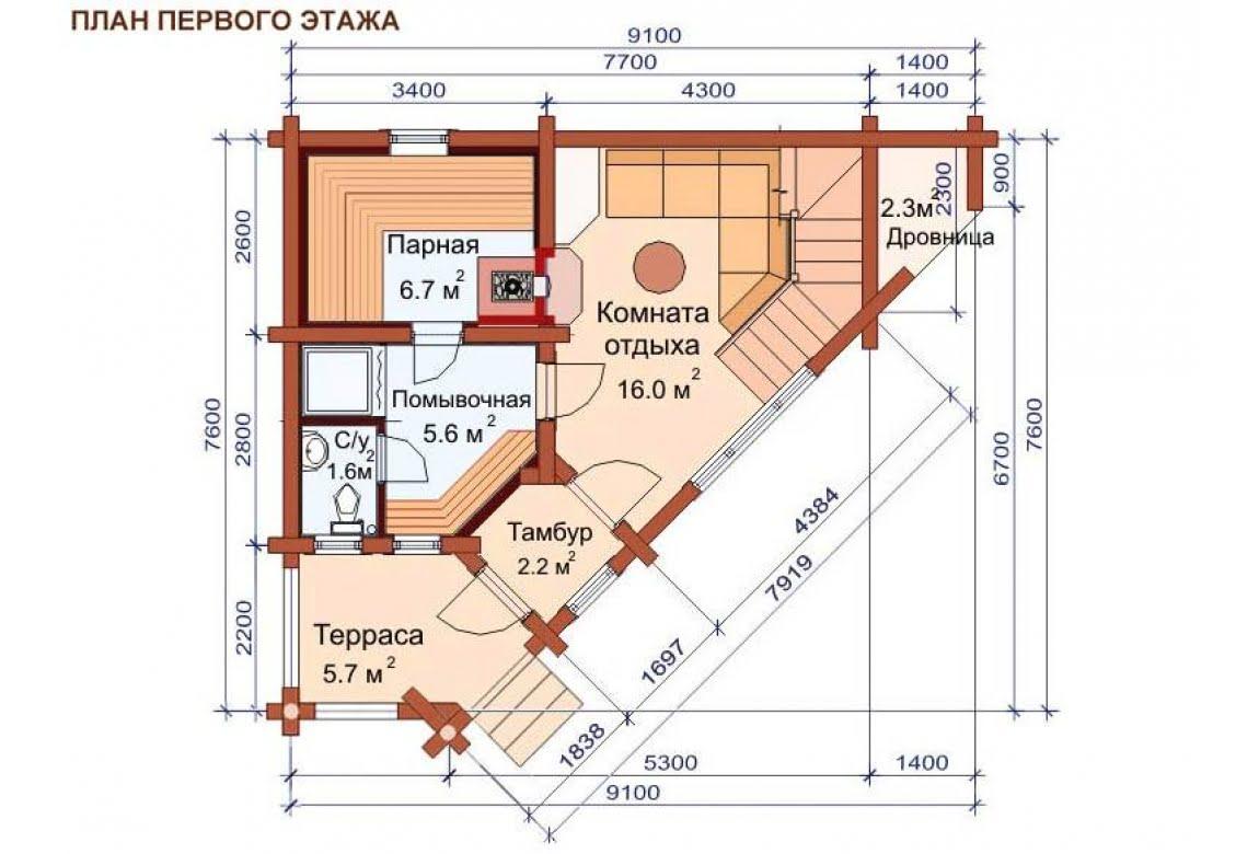 План N1 проекта бани АСД-1507