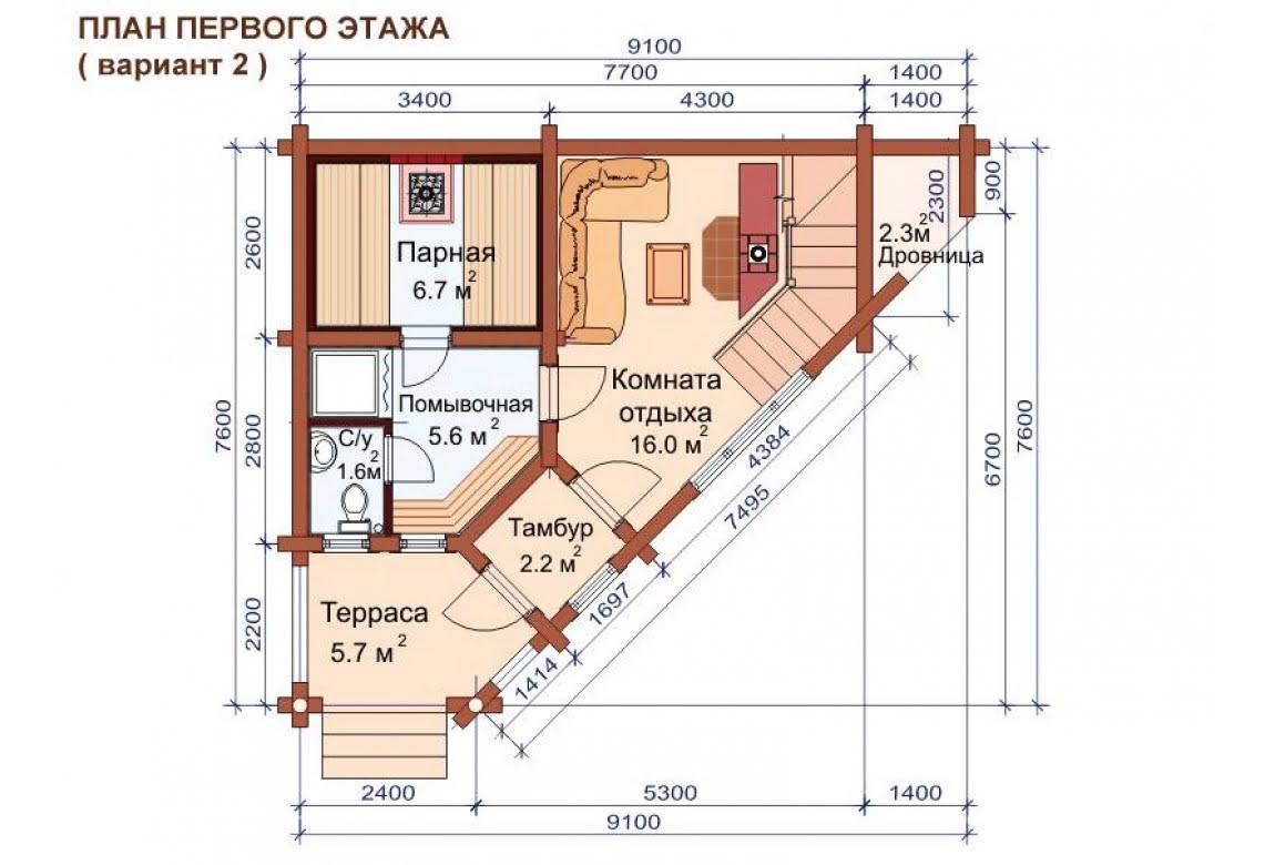 План N3 проекта бани АСД-1507