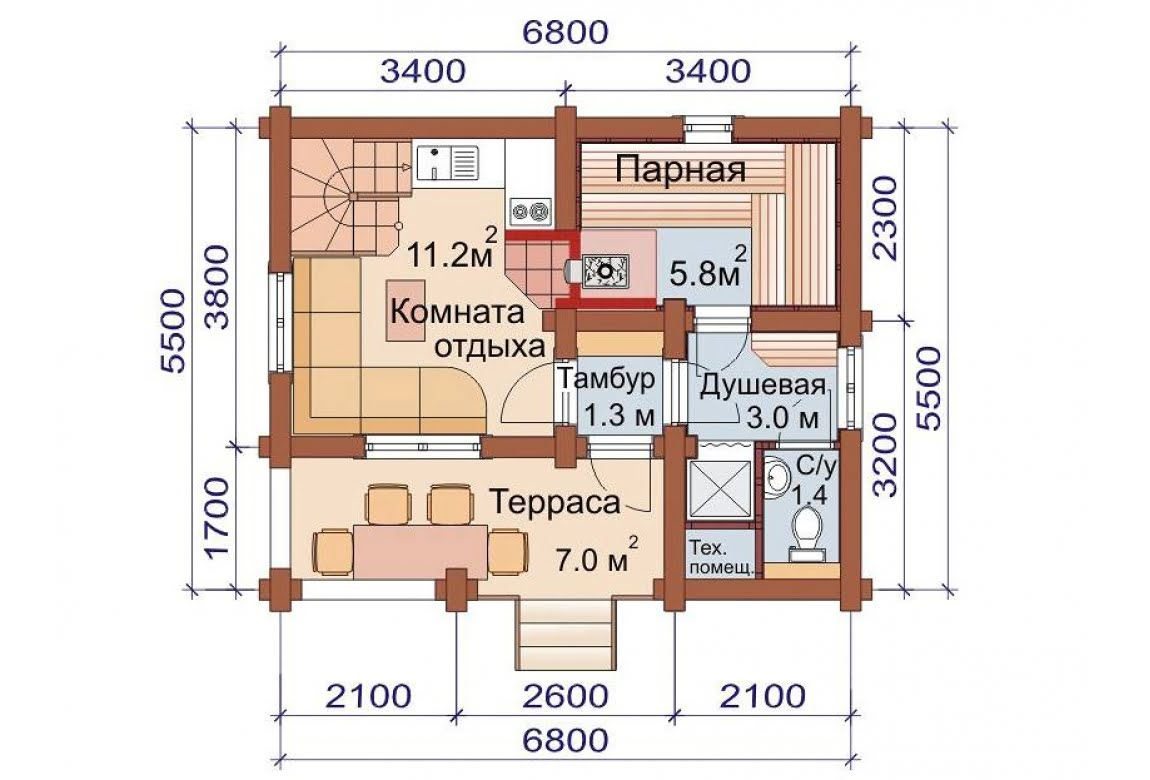 План N1 проекта бани АСД-1508