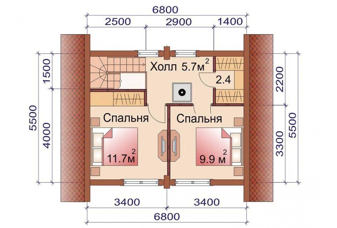 План N2 проекта бани АСД-1508