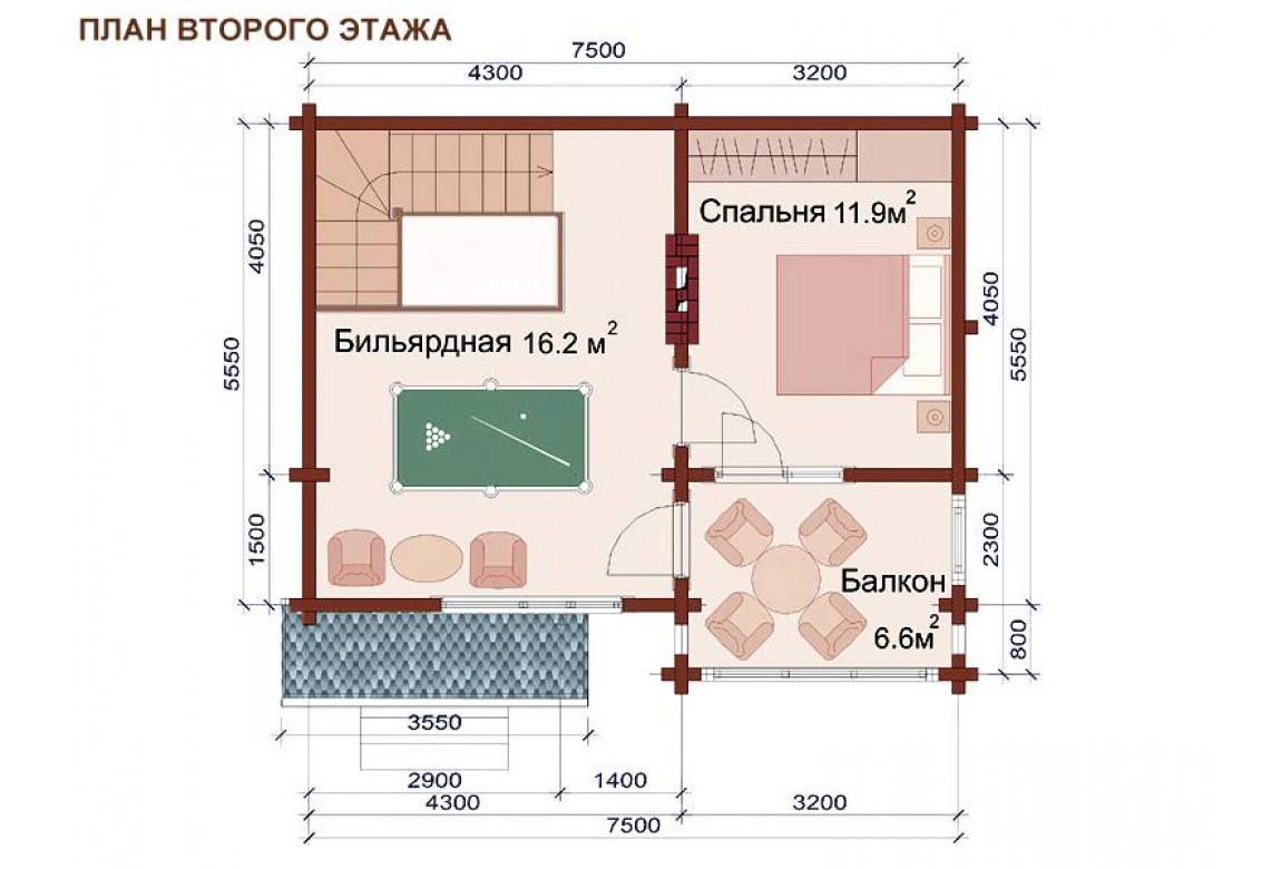 План N2 проекта бани АСД-1509