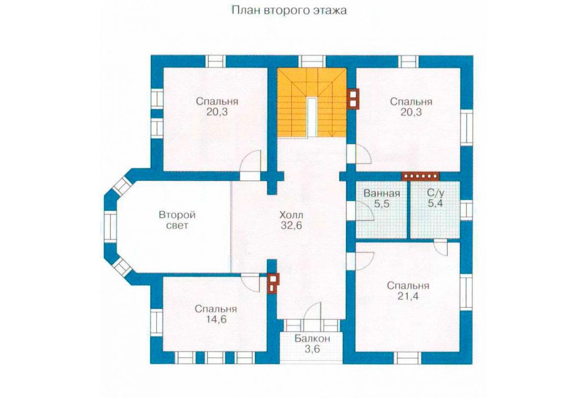 План N2 проекта кирпичного дома АСД-1051