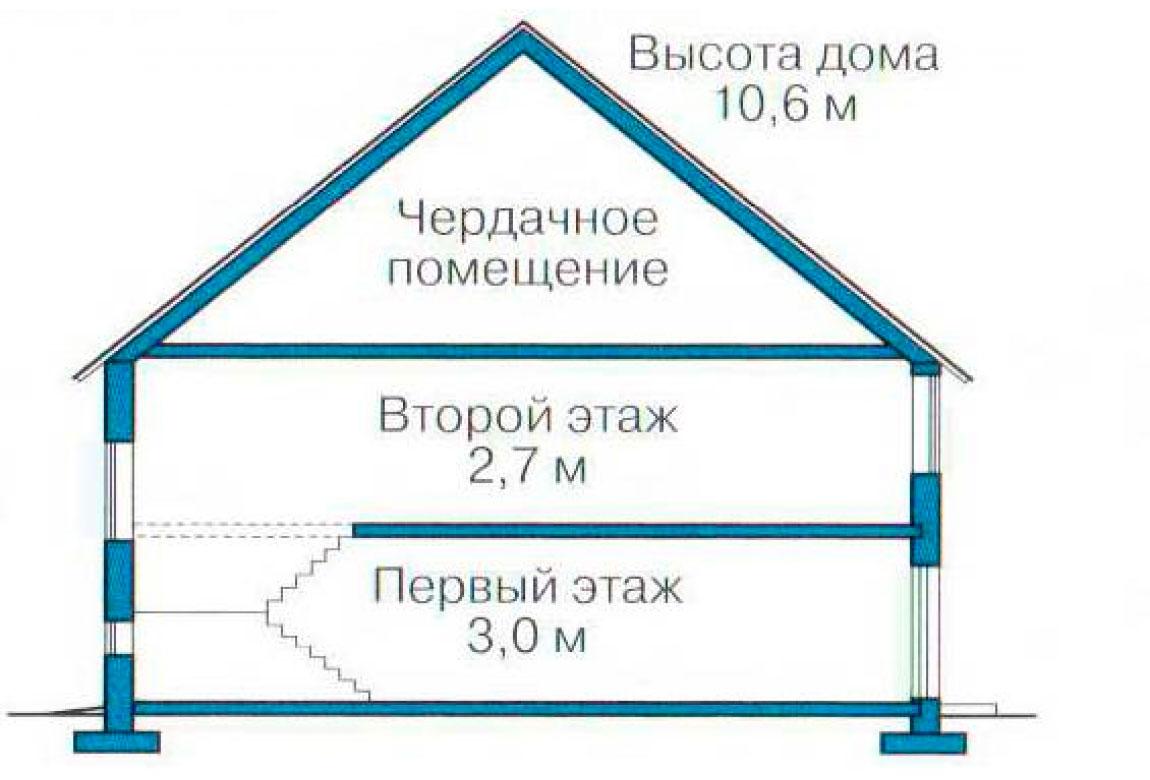 План N3 проекта кирпичного дома АСД-1051
