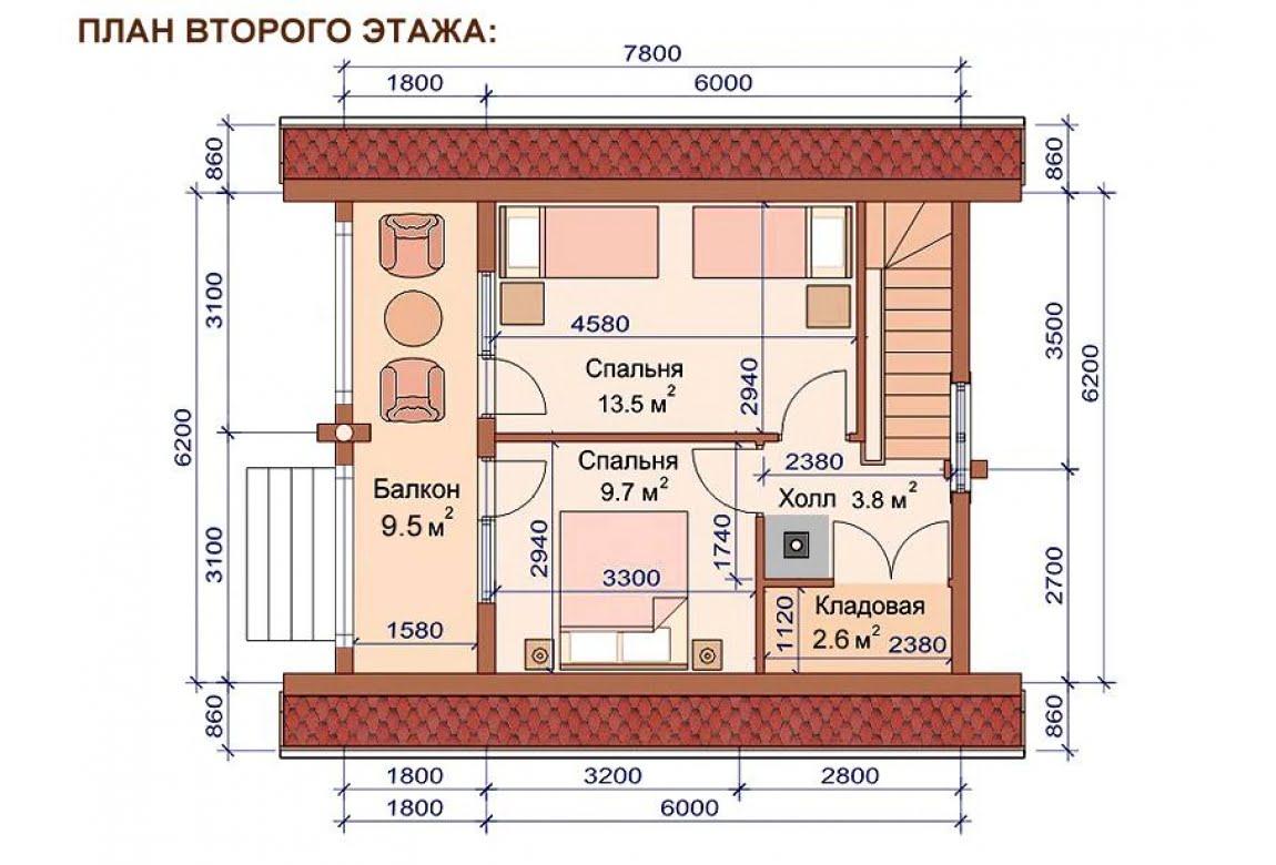 План N2 проекта бани АСД-1511