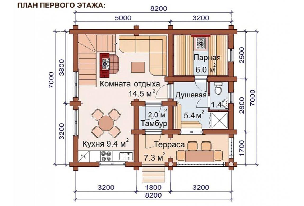План N1 проекта бани АСД-1515