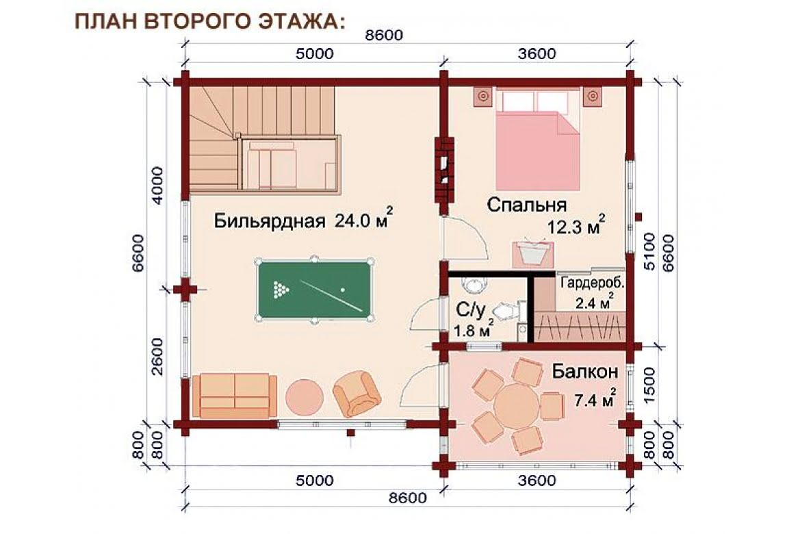 План N2 проекта бани АСД-1516