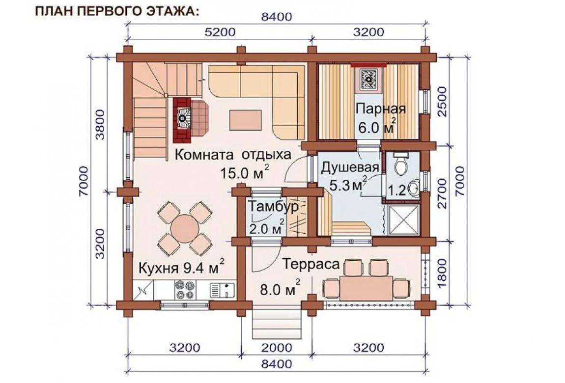 План N1 проекта бани АСД-1517